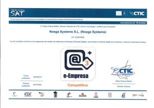 Diploma de e-Empresa concedido a Noega Systems