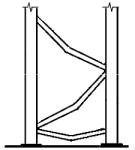 esquema de diagonales dobladas en el plano del bastidor